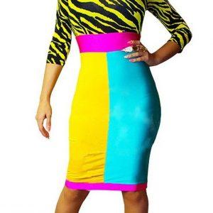 A348 Rochie sexi cu print colorat - Rochii de club - Haine > Haine Femei > Rochii Femei  > Rochii de club