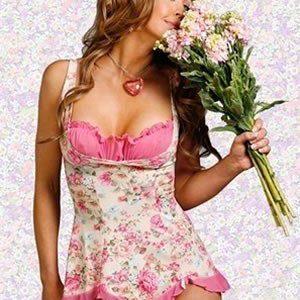B22 Lenjerie desu cu model floral - Lenjerie desu - Haine > Haine Femei > Lenjerie intima > Lenjerie desu