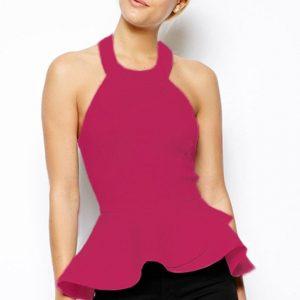 BL161-55 Bluza eleganta cu peplum - Bluze - Haine > Haine Femei > Bluze