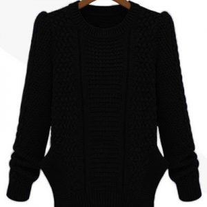 BL225-1 Pulover de iarna tricotat cu maneci lungi - Bluze - Haine > Haine Femei > Bluze