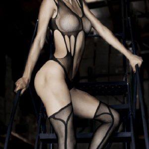 BS143-1 Bodystocking sexy cu ciorapi treisfert - Bodystockings