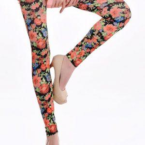 CL167 Colanti cu model floral - Colanti - Haine > Haine Femei > Pantaloni Dama > Colanti
