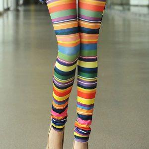 CL234 Colanti cu model colorat - curcubeu - Colanti - Haine > Haine Femei > Pantaloni Dama > Colanti