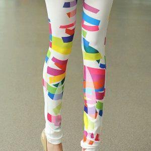 CL235 Colanti cu model colorat - Colanti - Haine > Haine Femei > Pantaloni Dama > Colanti
