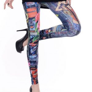 CL322 Colanti cu imprimeu colorat - Colanti - Haine > Haine Femei > Pantaloni Dama > Colanti