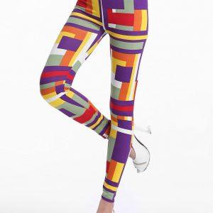 CL325 Colanti cu model de forme geometrice - Colanti - Haine > Haine Femei > Pantaloni Dama > Colanti