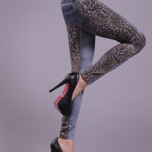 CL4-4 Colanti cu model animal print si buzunare - Colanti - Haine > Haine Femei > Pantaloni Dama > Colanti