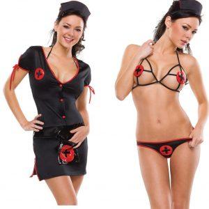 D221 Lenjerie asistenta sexy - Asistenta Medicala - Haine > Haine Femei > Costume Tematice > Asistenta Medicala