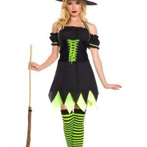 E324 Costum Halloween Vrajitoare - Vrajitoare - Vampir - Haine > Haine Femei > Costume Tematice > Vrajitoare - Vampir