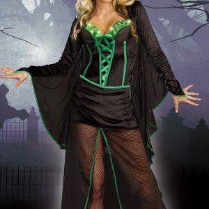 F148 Costum Halloween vrajitoare - Vrajitoare - Vampir - Haine > Haine Femei > Costume Tematice > Vrajitoare - Vampir