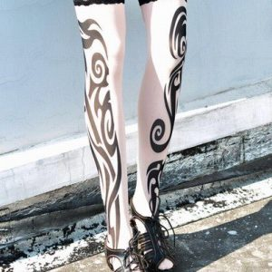 G121 Ciorapi treisfert cu tatuaj - Ciorapi cu tatuaj - Haine > Haine Femei > Ciorapi si manusi > Ciorapi cu tatuaj