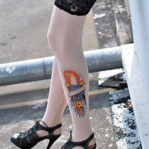 G123 Ciorapi cu tatuaj - Ciorapi cu tatuaj - Haine > Haine Femei > Ciorapi si manusi > Ciorapi cu tatuaj