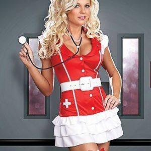 H18 Costum asistenta medicala sexy - Asistenta Medicala - Haine > Haine Femei > Costume Tematice > Asistenta Medicala