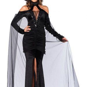 J317-1 Costum tematic Halloween vampir - Vrajitoare - Vampir - Haine > Haine Femei > Costume Tematice > Vrajitoare - Vampir