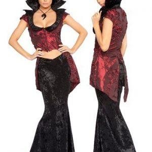 K46 Costum Halloween Vampirita - Vrajitoare - Vampir - Haine > Haine Femei > Costume Tematice > Vrajitoare - Vampir
