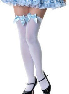 L23 Accesorii ciorapi cu fundite albastre - Ciorapi dama - Haine > Haine Femei > Ciorapi si manusi > Ciorapi dama