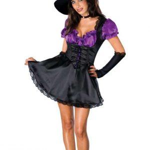 N319 Costum Halloween vrajitoare - Vrajitoare - Vampir - Haine > Haine Femei > Costume Tematice > Vrajitoare - Vampir