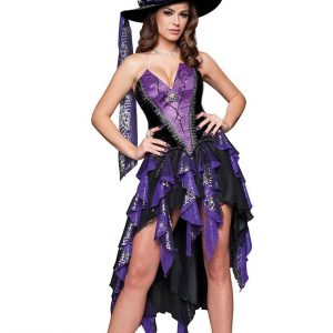 P243 Costum carnaval Vrajitoare - Vrajitoare - Vampir - Haine > Haine Femei > Costume Tematice > Vrajitoare - Vampir