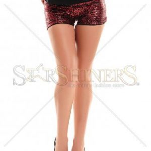 Pantaloni Scurti Artista Glassy Look Red - Pantaloni scurti -