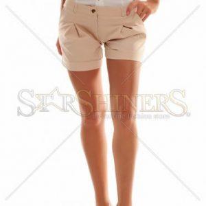 Pantaloni Scurti PrettyGirl Circles Cream - Pantaloni scurti -