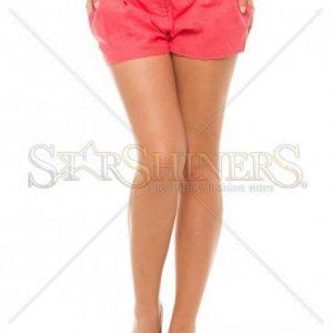 Pantaloni Scurti PrettyGirl Holey Coral - Pantaloni scurti -