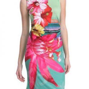 RV142Rochie de vara cu print cu flori - Rochii de vara - Haine > Haine Femei > Rochii Femei  > Rochii de vara