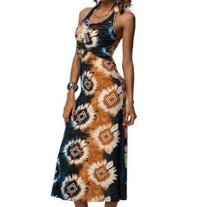 RV158-19 Rochie de vara cu model floral - Rochii de vara - Haine > Haine Femei > Rochii Femei  > Rochii de vara