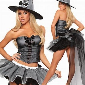 S137 Costum Halloween vrajitoare - Vrajitoare - Vampir - Haine > Haine Femei > Costume Tematice > Vrajitoare - Vampir