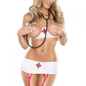 S93 Lenjerie asistenta medicala sexi - Asistenta Medicala - Haine > Haine Femei > Costume Tematice > Asistenta Medicala