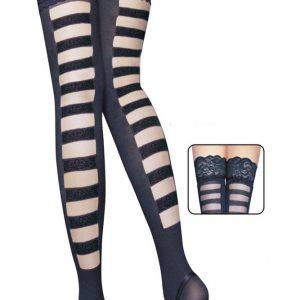 STK26 Ciorapi sexi cu dungi la spate - Ciorapi dama - Haine > Haine Femei > Ciorapi si manusi > Ciorapi dama