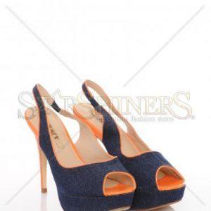 Sandale Denim Look Orange - Incaltaminte -