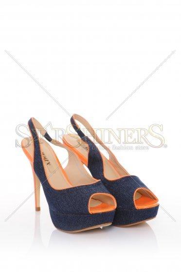 Sandale Denim Look Orange – Incaltaminte –