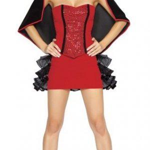 T133 Costum Halloween Vampirita - Vrajitoare - Vampir - Haine > Haine Femei > Costume Tematice > Vrajitoare - Vampir