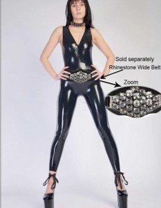 T142- Salopeta Latex Sexi - Costume latex si PVC - Haine > Haine Femei > Costume latex si PVC