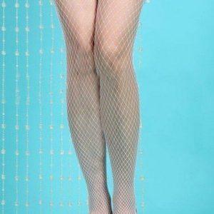 T44-2 Ciorapi sexy din plasa cu volanase - Ciorapi dama - Haine > Haine Femei > Ciorapi si manusi > Ciorapi dama
