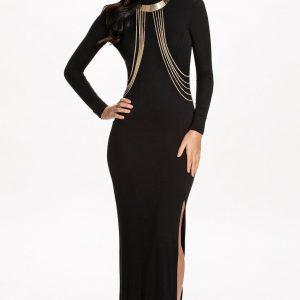 U377-1 Rochie lunga eleganta cu maneci lungi
