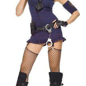 X133 Costum Halloween politista - Politista - Gangster - Haine > Haine Femei > Costume Tematice > Politista - Gangster