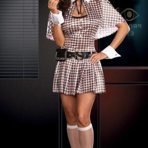 X136 Costum Tematic Detectiv - Politista - Gangster - Haine > Haine Femei > Costume Tematice > Politista - Gangster