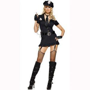Y42 Costum Halloween politista - Politista - Gangster - Haine > Haine Femei > Costume Tematice > Politista - Gangster