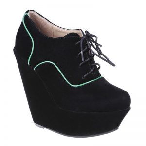 Botine Adnana negre - Pantofi > Pantofi cu platforma -