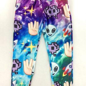 CL410 Pantaloni lungi cu model Galaxy Emoji Joggers - Pantaloni Lungi - Haine > Haine Femei > Pantaloni Dama > Pantaloni Lungi