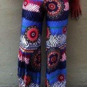 CL443 Pantaloni largi de vara cu talie inalta model palazzo - Pantaloni Lungi - Haine > Haine Femei > Pantaloni Dama > Pantaloni Lungi