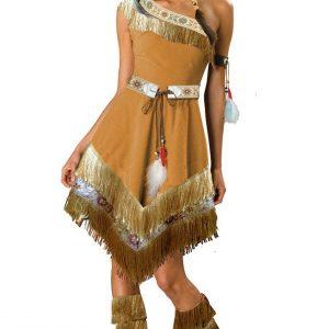 F317 Costum Halloween indian - Cowboy - Indian - Haine > Haine Femei > Costume Tematice > Cowboy - Indian