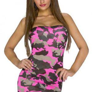 J401-55 Rochie scurta sexy cu model camuflaj - Rochii de vara - Haine > Haine Femei > Rochii Femei  > Rochii de vara