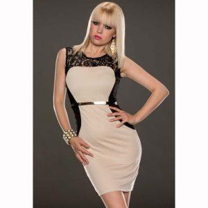 K321-15 Rochie eleganta de cocktail accesorizata in talie - Rochii accesorizate - Haine > Haine Femei > Rochii Femei  > Rochii de seara > Rochii accesorizate