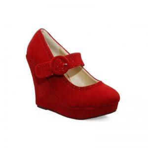 Pantofi dama rosii Norina - Pantofi > Pantofi cu platforma -