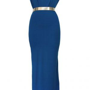 R357-4 Rochie lunga eleganta cu plasa in partea din spate - Rochii accesorizate - Haine > Haine Femei > Rochii Femei  > Rochii de seara > Rochii accesorizate