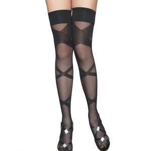 STK171-1 Ciorapi treisfert cu model - Ciorapi dama - Haine > Haine Femei > Ciorapi si manusi > Ciorapi dama