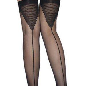 STK197-1 Ciorapi treisfert cu model la spate - Ciorapi dama - Haine > Haine Femei > Ciorapi si manusi > Ciorapi dama