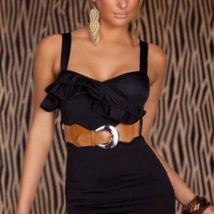 U134 Rochie scurta sexy accesorizata in talie - Rochii accesorizate - Haine > Haine Femei > Rochii Femei  > Rochii de club > Rochii accesorizate